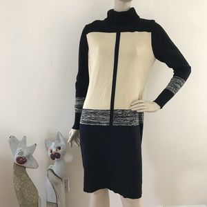 Narciso Rodriguez Color Block Knit Dress L